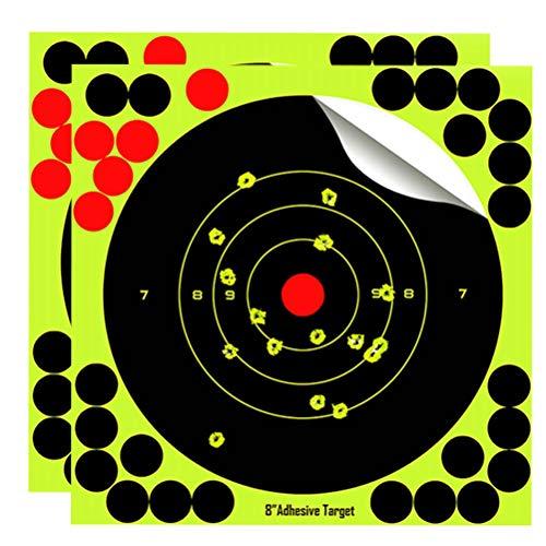 LIOOBO 25pcs Schießscheiben Leuchtend Gelb Stick Splatter selbstklebend für Schusswaffen Fluoreszierendes Gelb Targets