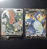 Shiny Charizard V & Charizard Vmax Silver Metal Pokemon Cards Custom Made Secret Rare