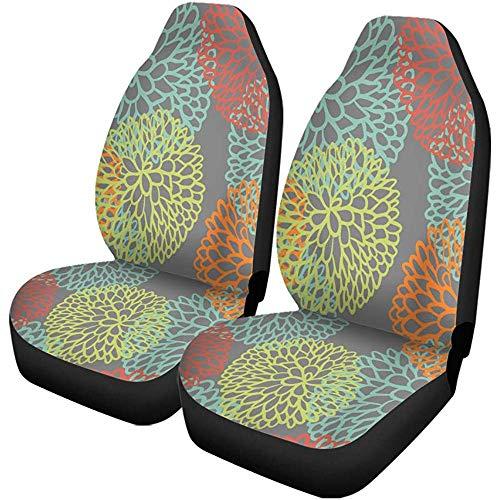 Fall Ing Autostoelbekleding mintgroen bloemen kleurrijk abstract Bloom Blossom verlichting Universal auto stoelbescherming