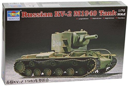 Faller Trumpeter 07235 - Modellino da Costruire, Carro Armato Pesante sovietico KV-2 M1940, in Scala 1:72
