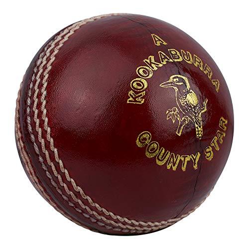 Kookaburra Unisex's County Star, 5.5oz Cricket Ball, Red, Mens