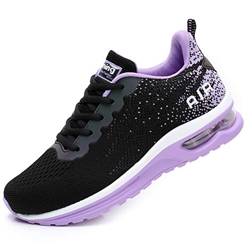 Flarut Hombre Zapatos para Correr en Montaña y Asfalto Aire Libre y Deportes Zapatillas de Running Padel para Mujer Calzado Gimnasia