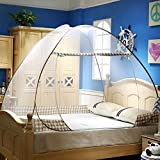 CdyBox Folding Mosquito Net Tent Canopy Curtains for Beds Home Bedroom Decor (1.5X2.0m, Coffee)