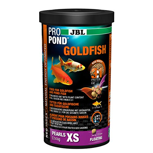 JBL Futter für Gold- und Teichfische, Schwimmende Futtersticks, Spezialfutter, PROPOND GOLDFISH, Größe XS, 140 g