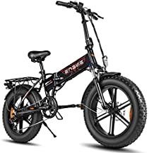 ENGWE Electric Bike 500W 750W 20 inch Fat Tire Electric Bicycle Mountain Beach Snow Bike for Adults, Aluminum Electric Scooter 7 Speed Gear E-Bike with Removable 48V12.5A Lithium Battery(Black 500W)
