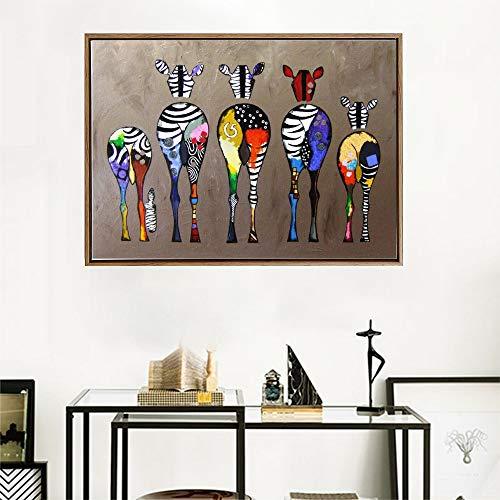 Kleurrijke abstracte giraffe huisdecoratie muur kunst foto HD print op canvas schattige dier pop kunst schilderij baby kamer decoratie frameless