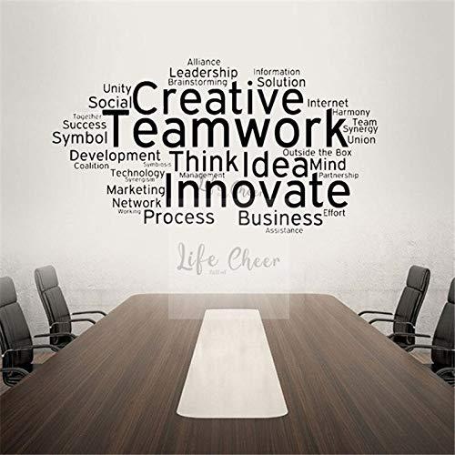 Büroraum Wanddekor Baumaschinen Wand Zitat Kreative Aufkleber Teamwork Team Wandkunst Aufkleber Büro Thema Wandplakat