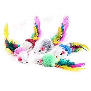[Taille]: 4.5X2.5CM. Longueur approximative: 10 cm [Matériel]: plume + peluche [Description]: Les petits jouets classiques, comme la plupart des chats et des chats; le contenu du gravier, fera un bruit de bruissement, attirant l'attention des chats q...