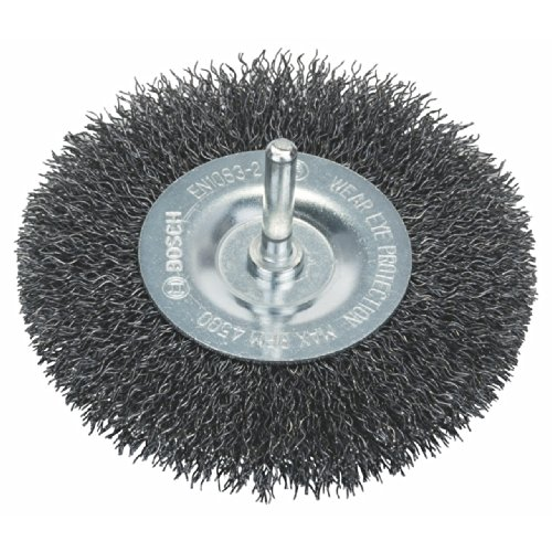 Bosch Professional 1609200273 6mm Shank Wheel 100mm, Crimped Wire, 0.3mm Steel, Silver, 0.3 mm
