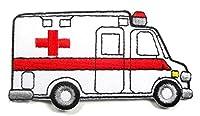 アイロンワッペン ワッペン 車・バイク(車体) ワッペン 刺繍ワッペン 救急車 アイロンで貼れるワッペン