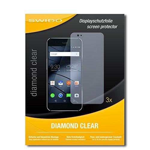 SWIDO 3 x Schutzfolie Gigaset ME Pro Bildschirmschutz Folie DiamondClear unsichtbar