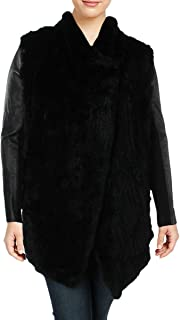 Womens Winter Rabbit Fur Basic Coat