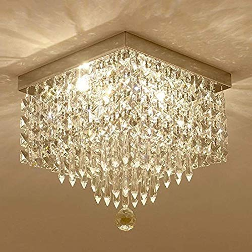 Hogreat Candelabro Lámpara de ara?a para Pasillo/Pasillo/Pasillo/lámpara de ara?a, 1 Llama, W8 Mini, Moderna, Cuadrada, empotrada, lámpara de Techo