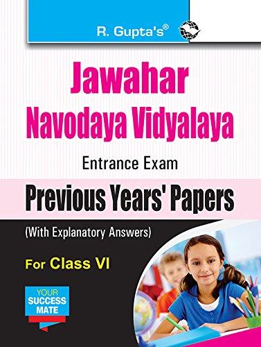 Jawahar Navodaya Vidyalaya (JNV) Entrance Exam (Class VI): Previous Years Papers (Solved) (Class VI, Solved)