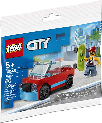 LEGO City Skater 30568 Minifigure with Skateboard and Car