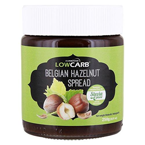 Belgischer Haselnussaufstrich - Low Carb Carbzone, Stevia gesüßt - 250 g