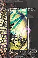 MY NOTEBOOK: Carnet de notes pages lignées à imprimer original de 120 pages couverture décorée et colorée, tendance, originale et moderne (Anglais) broché