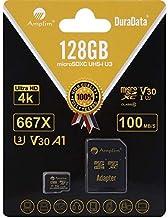 Amplim 128GB Micro SD SDXC V30 A1 Memory Card Plus Adapter Pack (Class 10 U3 UHS-I Pro MicroSD XC) 128 GB Ultra High Speed...