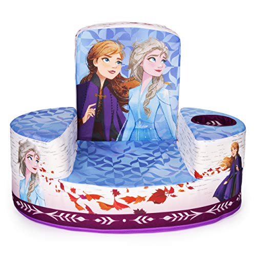 Marshmallow Furniture Flip-See-Do Comfy Child's Foam Furniture Toddler Chair for Kids Ages 2 and Up, Disney's Frozen 2