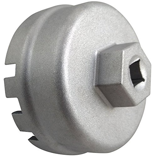 Caldera Toyota Oil Filter Wrench For 1.8Liter Toyota, Lexus, and Scion Vehicles - Compatible with 64mm Oil Filter Cartridges and Caps On Corolla, Prius, Matrix, CT200h, iQ, and XD