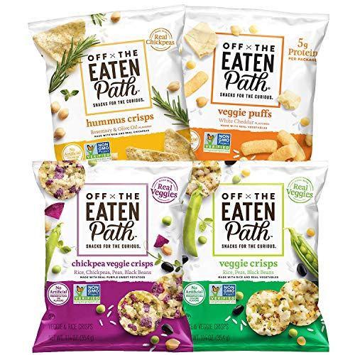 Off the Eaten Path, 4 Flavor Sampler Variety Pack, (Assortment May Vary) 1.25 Ounce (Pack of 16)