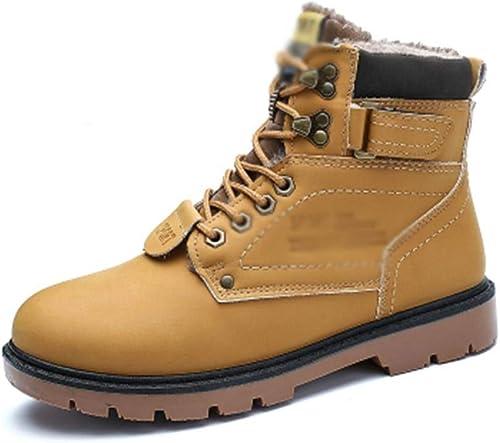 Hhor Bottes Plates de Mode pour Hommes Bottes Bottes du désert décontractées Doubleure en Coton imperméable, 42 (Couleuré   -, Taille   -)  vente avec grande remise