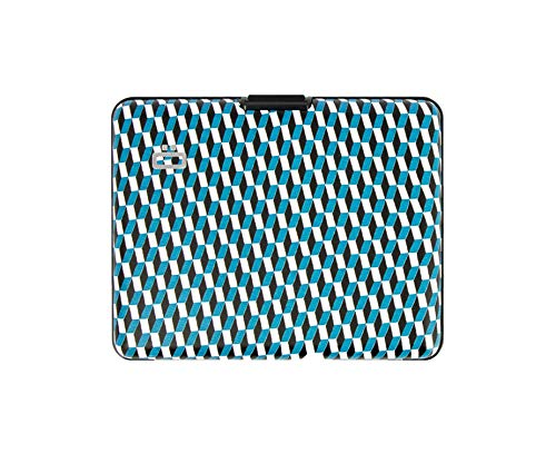 Ögon Smart Wallets – Brieftasche im Ausweis-Format und für den Führerschein – RFID Schutz: schützt Ihre Karten gegen Betrug – bis zu 10 Karten Jaquard 9.5 cm