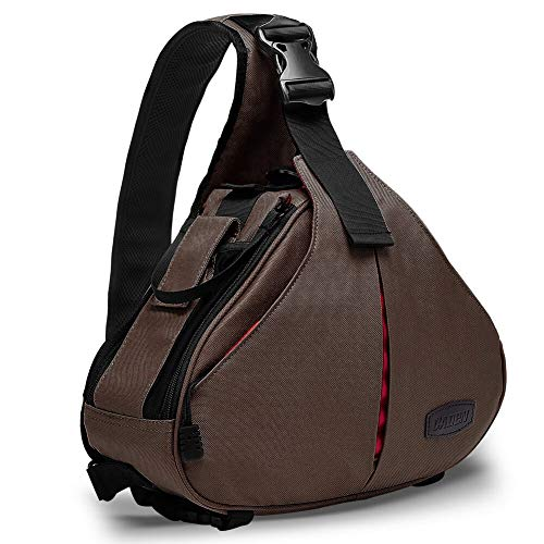 CADEN Waterproof Camera Bag Sling Backpack Small with Rain Cover and Tripod Holder for DSLR Mirrorless Cameras Canon Nikon Sony Pentax