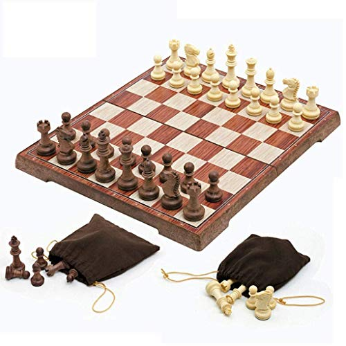 IG Chess Set Portable Chess Board Folding Board Chess Game International Chess Set for Party Family Activities Chess,28Cm