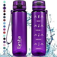 Grsta Gourde Sport, Bouteille 350ml/500ml/800ml/1l/1,5l, Bouteille d'eau avec Filtre et marqueur de Temps, Gourde...