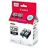 Canon PGI-220 Ink Cartridge - Black - 2 Pack in Retail Packing
