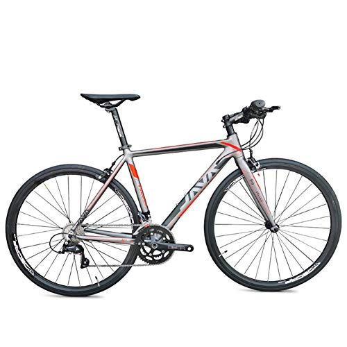 DJYD Adult Road Bike, Männer Frauen Leichtes Aluminium-Rennrad, Rennrad, Stadt-Pendler-Fahrrad, Straßen-Fahrrad, Blau, 16 Geschwindigkeit FDWFN (Color : Red, Size : 18 Speed)
