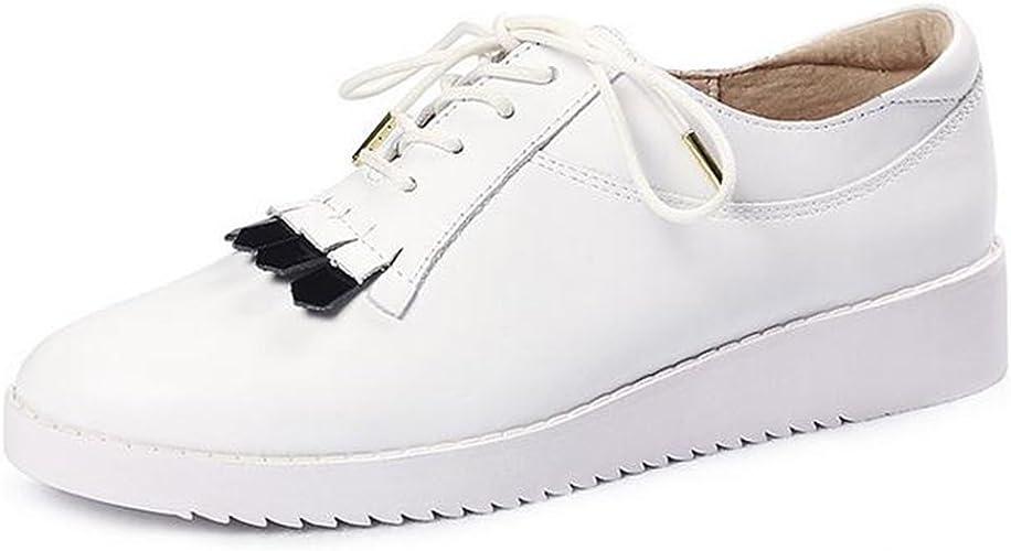 YTTY La Femme De Laçage De Chaussures Blanches,Blanc,38