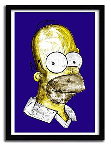 K.Olin Tribu - Affiche middle class superstar au Chocolat par Rubiant, Papier, Blanc, 20 x 30 x 0.1 cm