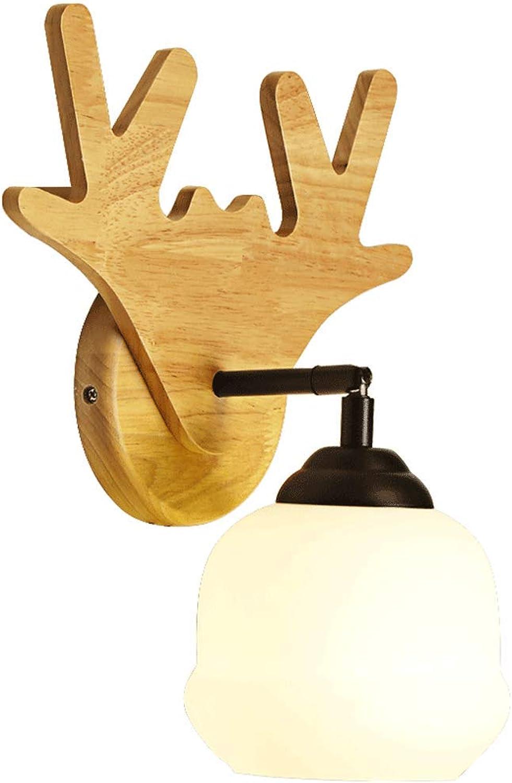 LLYU Einfache Wandlampe der kreativen Wandlampe einfache Moderne Korridorlampenschlafzimmer-Nachttischlampe im japanischen Stil (Design   A)