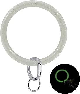 Townshine Silicone Bangle Key Ring Wrist Keychain Bracelet Round Key Rings