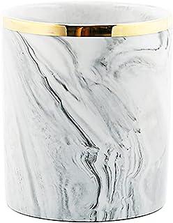 كبير السيراميك القلم حامل ماكياج فرشاة تخزين الحاويات المنزل الديكور مكتب المنظمون والاكسسوارات (Color : White, Size : 8.5...