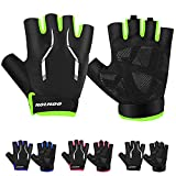 HOIHOO Cycling Gloves, Biking Glove Bike Glove with Anti-Slip Shock Absorbing Gel Padded Breathable MTB DH Mountain Road Bicycle Gloves for Men Women