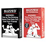 Buzzed & Buzzed Expansion Pack #1 Bundle - This is The Drinking Game That Gets You and Your Friends Tipsy!