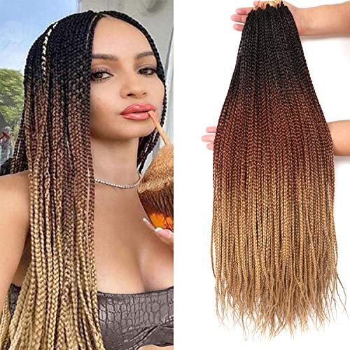 7 Packs 26 Inch Medium Goddess Box Braids Crochet Hair Extensions Synthetic...