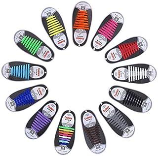 Elastic Shoe Laces Sport Sneakers Runner No Tie Lazy Lock Shoelaces Child Unisex