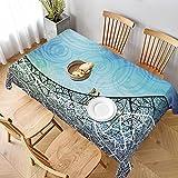 Mantel Rectangular,Vectores de Fondo Azul y Curva de GraphicRiver Lavable Resistente a Las Arrugas Manteles,para Bodas Fiesta Navidad Cubierta de Mesa de Buffet 137x183cm
