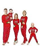 KikizYe Adult Women's Holiday Christmas Reindeer Matching Family Pajamas Sets Long Sleeve Kids Pjs...