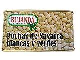 Alubias pochas de Navarra blancas y verdes al natural 780 g.