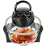 Wisfor Air Convection Oven Tabletop Chicken Air Fryer Oven 12 Quart 1300W Healthy Meals for French Fries Chips Convection Cooker, Black