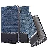 Cadorabo Hülle für Sony Xperia 10 in DUNKEL BLAU SCHWARZ – Handyhülle mit Magnetverschluss, Standfunktion & Kartenfach – Case Cover Schutzhülle Etui Tasche Book Klapp Style