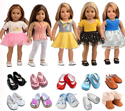 sweet dolly 5PC Lots Doll Clothes for 18' Dolls American Girl Dolls