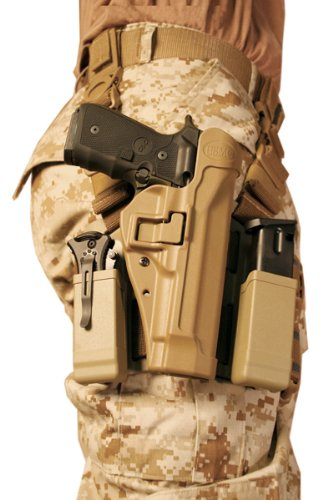 BLACKHAWK Serpa Level 2 Tactical Holster USMC, Coyote...