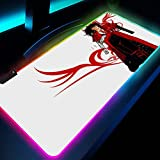 Alfrombrillas de ratón para Gamers Cool Anime Hellsing RGB LED...