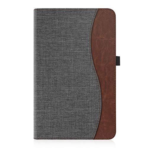 Fintie Hülle für Samsung Galaxy Tab A 10,1 Zoll T580N / T585N 2016 Tablet - Multi-Winkel Betrachtung Schutzhülle Cover Case mit Dokumentschlitze, Standfunktion, Auto Wake/Sleep Funktion, dunkelgrau